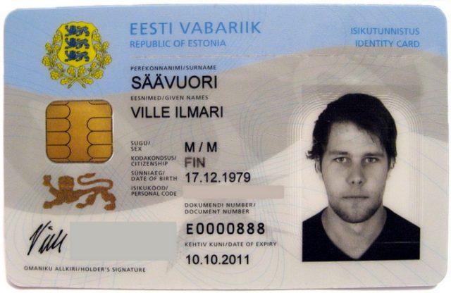 Эстонская ID-карта.