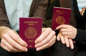 Обложка эстонского паспорта