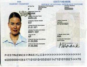 Паспорт Эстонии.