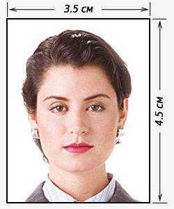 фото паспортного формата на белом фоне