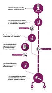 Этапы обработки заявления на гражданство.