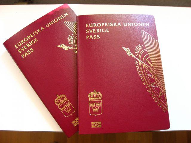 Паспорт Швеции.