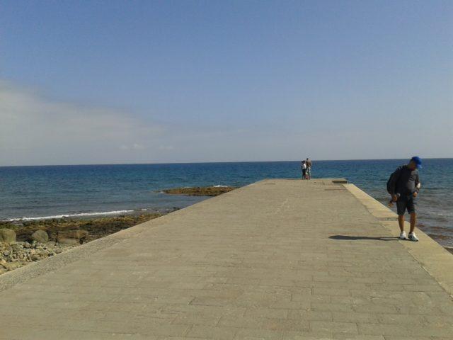 Маспаломас, на побережье Атлантики.