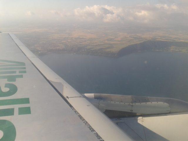 Вид на Мадрид из окна самолета.