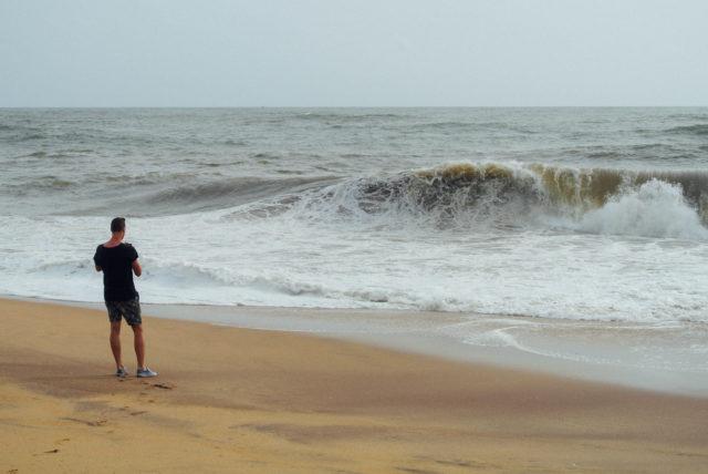 Начало путешествия. Пляж Бентота.