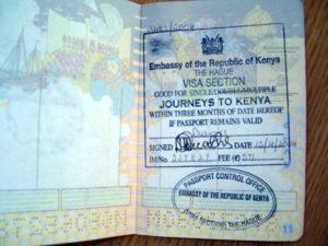 Виза в Кению для россиян в 2018 году