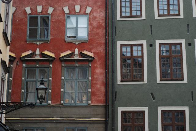Разноцветные дома в центре Стокгольма