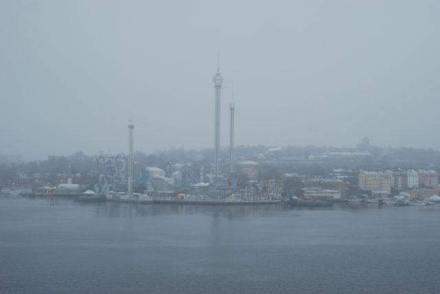 Стокгольм со смотровой площадки, с погодой не повезло