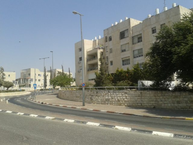 Окраина Иерусалима. Типичные постройки.