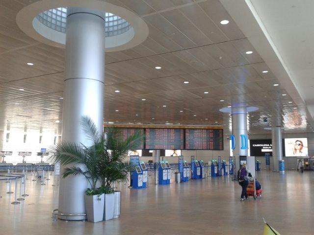 Третий этаж третьего терминала Бен Гурион