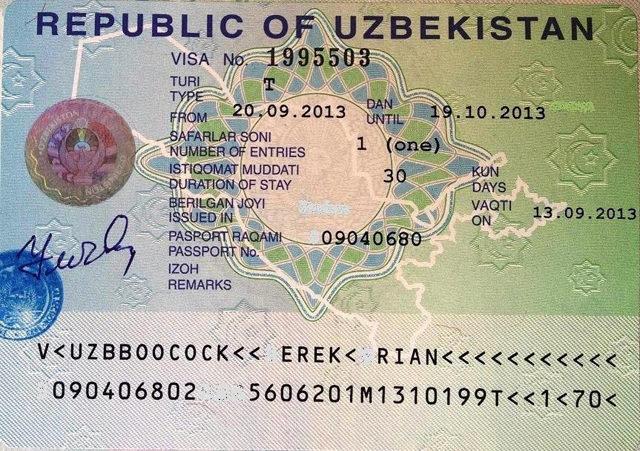 Виза в Узбекистан для граждан России